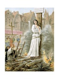 Joan of Arc Burning at the Stake Wydruk giclee