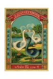 Thai Cotton Label with Geese Giclee Print