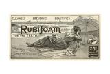 Rubifoam Advertisement Giclee Print