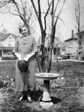 Mature Woman Outdoor Portrait, Ca. 1928 Photographic Print