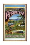 Rhodesia Union Castle Line Poster Giclée-Druck