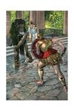 Hercules Battling the Monster of Crete Giclee Print