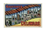 Greeting Card from Wilmington, Delaware Giclee Print