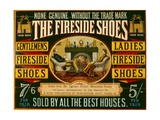 Fireside Shoes Advertisement Giclee Print