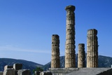 Doric Columns of the Temple of Apollo in Delphi Photographic Print by Paul Souders