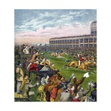 Horse Race at Epsom Derby Giclee Print