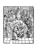 Pope Leo X Supervising Burning of Martin Luther's Books Giclee Print