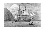 HMS Beagle in Straits of Magellan Giclee Print