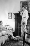 Senior Man and Woman in the Living Room, Ca. 1935 Photographic Print