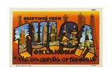 Greeting Card from Tulsa, Oklahoma Giclee Print