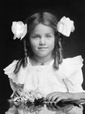 Four Year Old Girl Portrait, Ca. 1905 Photographic Print