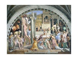 Fire in the Borgo Giclee Print by  Raphael