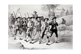 Minute Men on the March Print Giclee Print