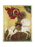 Russian Icon of Saint George Killing the Dragon Giclee Print