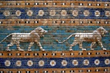 Detail of Lions on Ishtar Gate at Pergamon Museum Photographic Print