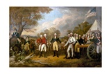Surrender of General Burgoyne Giclee Print by John Trumbull
