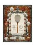 Slazenger Demon Tennis Racquet Advertisement Giclee Print