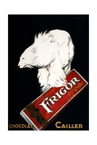 Poster with a Polar Bear on a Chocolate Bar Giclee Print