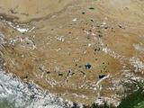 Satellite Image of Tibet Photographic Print