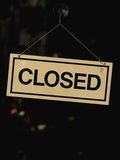 Closed Sign at Pike Place Market Photographic Print by Paul Souders
