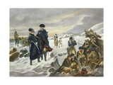 George Washington and Marquis Lafayette at Valley Forge after Alonzo Chappel Giclee Print