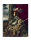 Portrait of Samuel James Whawell in Landsknecht Armor Giclee Print by John Seymour Lucas