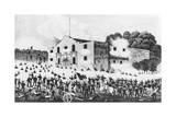 Lithograph of the Siege of the Alamo Giclee Print
