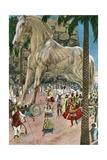 The Trojan Horse Entering Troy During the Trojan War Giclee Print