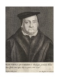 Engraving of Martin Luther Giclee Print by Wenceslas Hollar