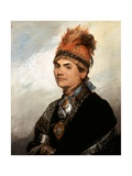 Portrait of Mohawk Chief Joseph Brant Giclee Print by Gilbert Stuart