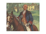 George Washington on Horseback Giclee Print