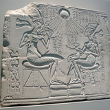 Egyptian Relief Depicting Akhenaten and Nefertiti with their Children Photographic Print