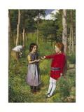 Skogsvaktarens dotter Gicléetryck av John Everett Millais
