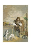 Robinson Crusoe with His Animals Giclee Print