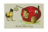 Easter Greeting Illustration Giclee Print