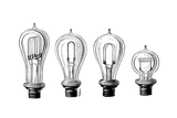 Edison's Incandescent Lamps Giclee Print