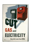 Cut Gas and Electricity Poster Giclee Print