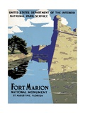 Fort Marion National Monument Travel Poster Giclee Print
