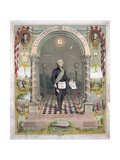 Print of President George Washington Dressed as a Freemason Giclee Print