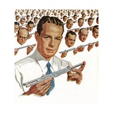 Engineers with Slide Rules Giclee Print