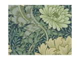 William Morris Wallpaper Sample with Chrysanthemum Giclee Print