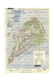 US Landing and Targeting Map of Iwo Jima Impression giclée
