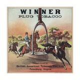 Winner Plug Tobacco Advertisement Giclee Print