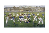 England Versus Scotland Rugby Union Match Giclee Print