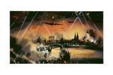War in the Air - Mass Bomber Raid on Cologne Giclee Print