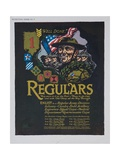 Well Done! Regulars Recruiting Poster Giclee Print
