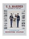U.S. Marines Recruiting Poster Giclee Print
