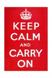 Keep Calm and Carry on Poster Giclee Print