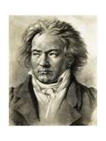 Portrait of Ludwig Van Beethoven Giclee Print