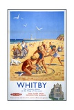 Whitby Travel Poster Reproduction procédé giclée